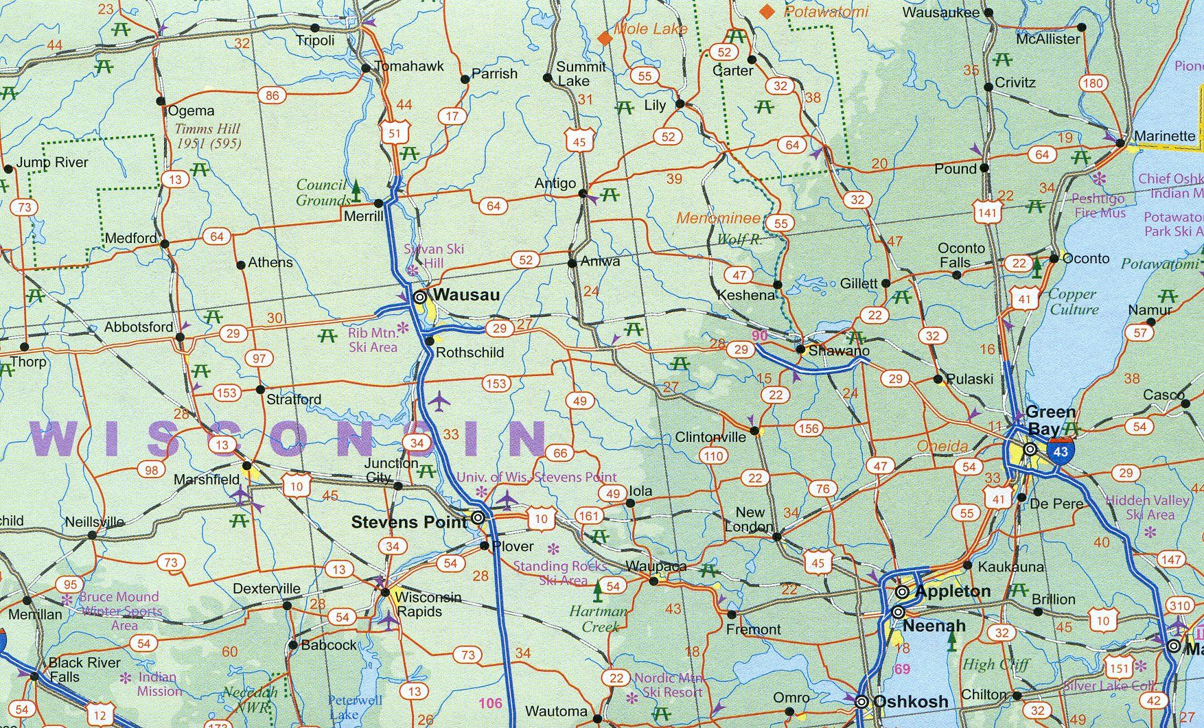 Map Of America Mississippi River.3 Usa Central Mississippi River States Travel Reference Map